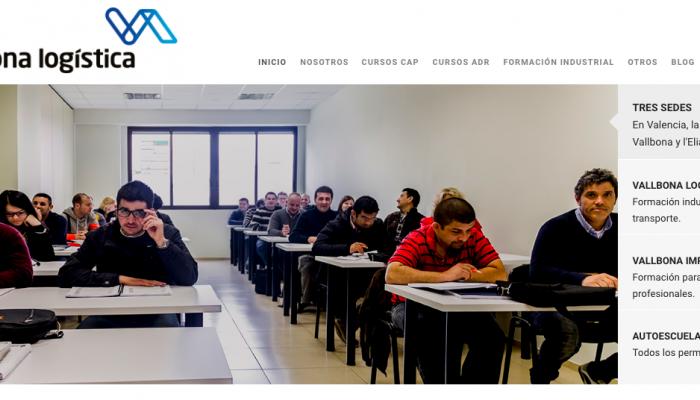 Nueva web de nuestro centro de formación para el transporte en Valencia